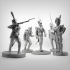 Pack of 5 Napoleonic soldiers. image