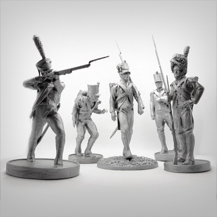Pack of 5 Napoleonic soldiers.