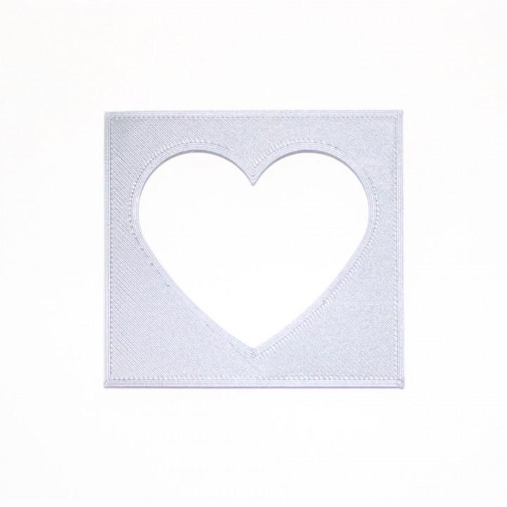 Heart stencil #1