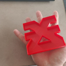 Picture of print of Warhammer 40k Khorne Cookie Cutter