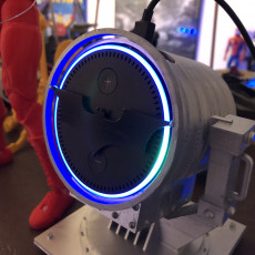 Picture of print of echo dot - Bat Signal