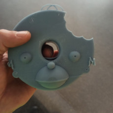 Picture of print of Homer Simpson donut head