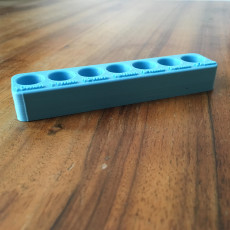 Picture of print of Harbor Freight Swivel Socket set, Tray - Metric