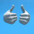 ZIPGUY THUMBS UP HAND -RIGHT image