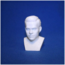 Picture of print of Captain Kirk Chris Pine Star Trek bust 3D printing ready stl obj