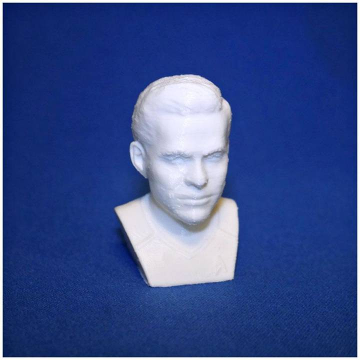 Captain Kirk Chris Pine Star Trek bust 3D printing ready stl obj