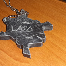 Picture of print of halo legendary keychain