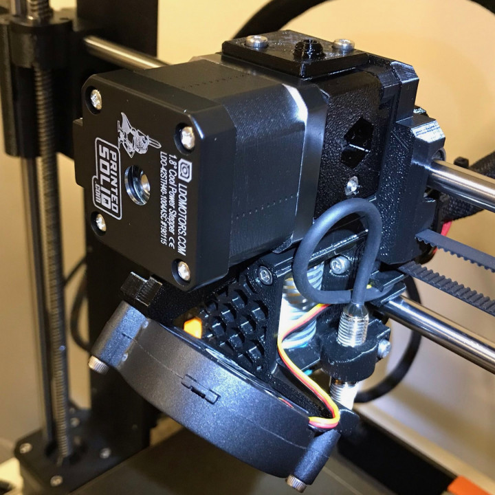 Butterworth Design - Prusa Mk3/Mk3S R4 Extruder Mod Filament Path Alignment and Indirect Mk3 Filament Sensor