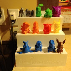 Low Poly Pokemon Display Stand