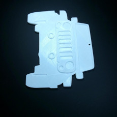 Picture of print of Jeep Outline Ornament