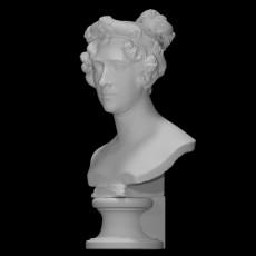 Bust of Augusta Wilhelmine Luise Princess of Hesse-Kassel, Duchess of Cambridge