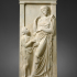 Marble grave stele of a young woman image