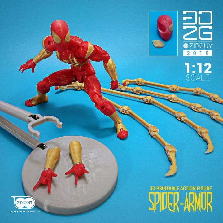 SPIDER HEAD For ZIPGUY 1.0 zip tie Action Figure