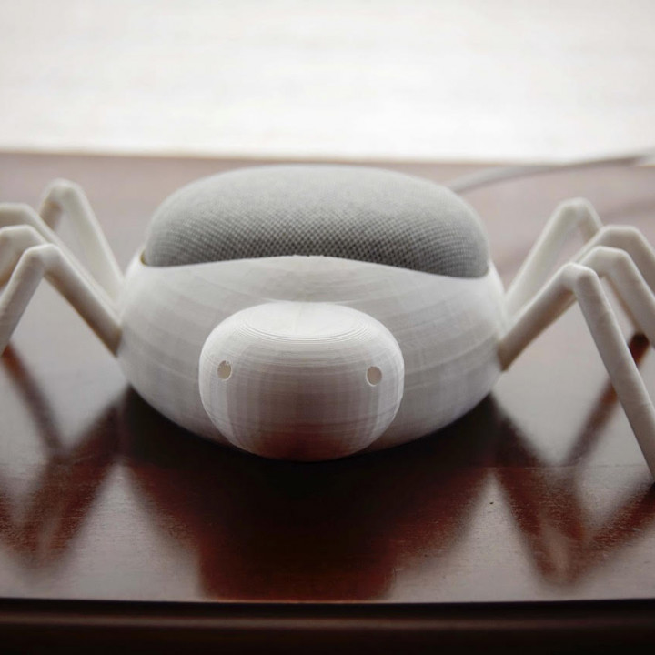 Friendly spider Google home mini holder