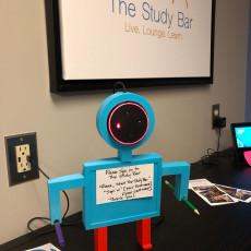 Alexa Echo Dot Robot with whiteboard and pen holder