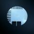 Hair Cair Disk print image