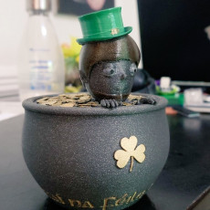 Picture of print of Leprechaun and Pot of Gold