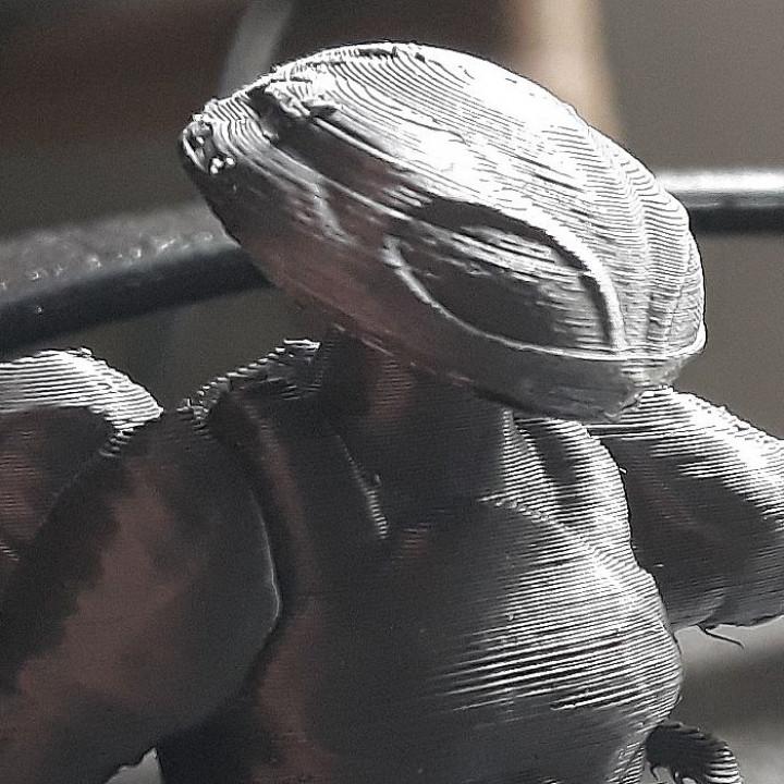 Black-Manta inspirited figure bust ( reduced version )