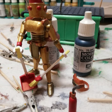 Picture of print of ARTICULATED HOUSEKEEPER ROBOT 3.75 INCH - NO SUPPORT