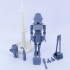 ARTICULATED HOUSEKEEPER ROBOT 3.75 INCH - NO SUPPORT image