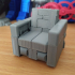 TRANSFORMABLE SOFA ROBOT 3.75 INCH - NO SUPPORT print image