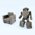 TRANSFORMABLE SOFA ROBOT 3.75 INCH - NO SUPPORT image