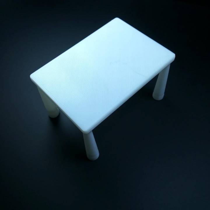 Basic Table with hollow legs