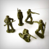British soldiers pack. image