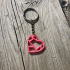 Modern Heart Keychain image