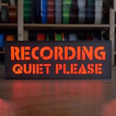 Recording LED sign