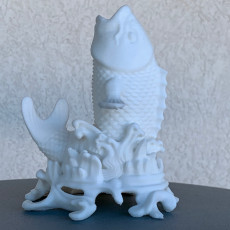 Picture of print of Japanese Porcelain Carp