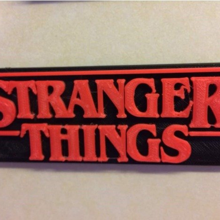 Stranger Things Logo Multicoloured