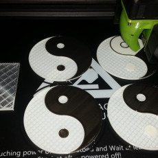 Picture of print of Yin and Yang Coaster