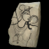 Painted fragment (ostracon) of Osiris image