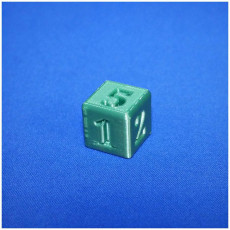 Picture of print of 6 sided number dice