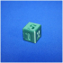 6 sided number dice print image