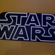 Picture of print of Star Wars Logo