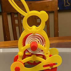 Picture of print of Windup Bunny 2 With a PLA Spring Motor and Floating Pinion Drive