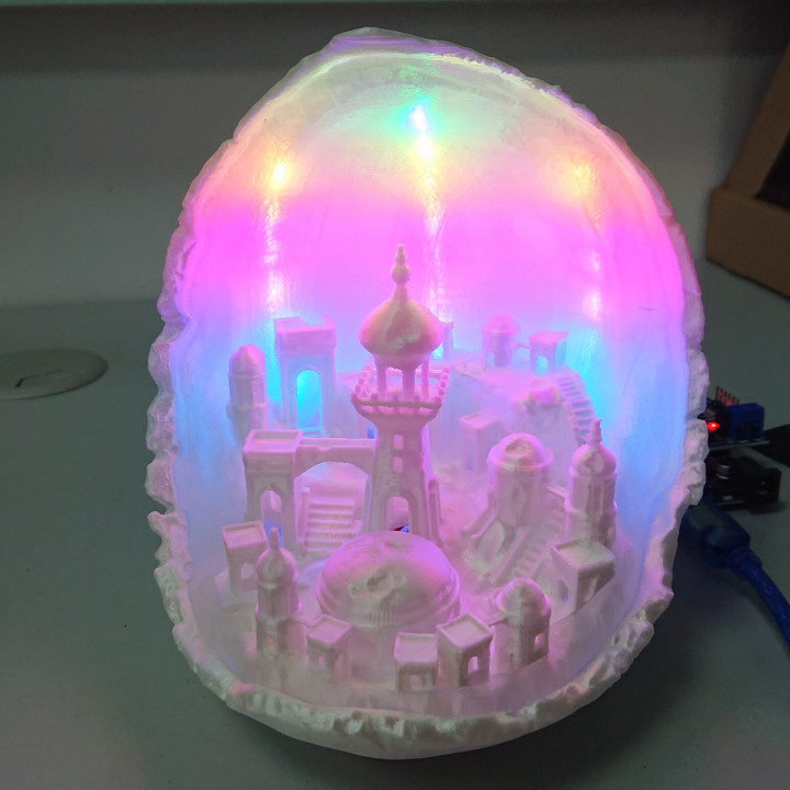 Moon City - Multipart lamp edition