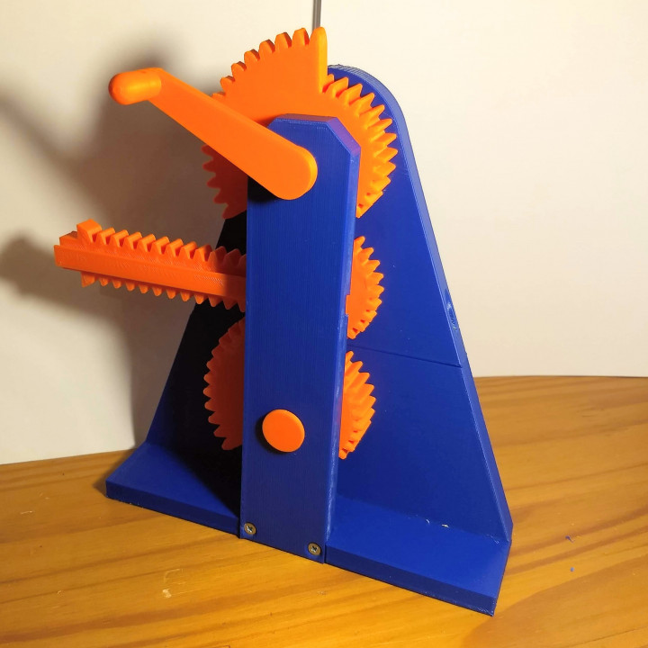 3D Printable Mechanism To Translate Contionuous Rotary