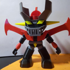 Picture of print of mazinger Z funko pop. Color print with just one extruder