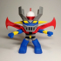 mazinger Z funko pop. Color print with just one extruder image