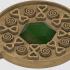 Round pendant with precious stone image