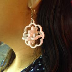 Spinning Flower Earring