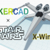 Simple X wing with Tinkercad image