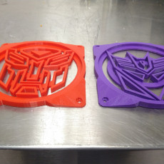 Autobot & Decepticon Logo 120mm Computer Fan Grills/Guards