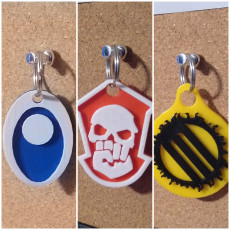 Gangs of Omega Keychains - Mass Effect