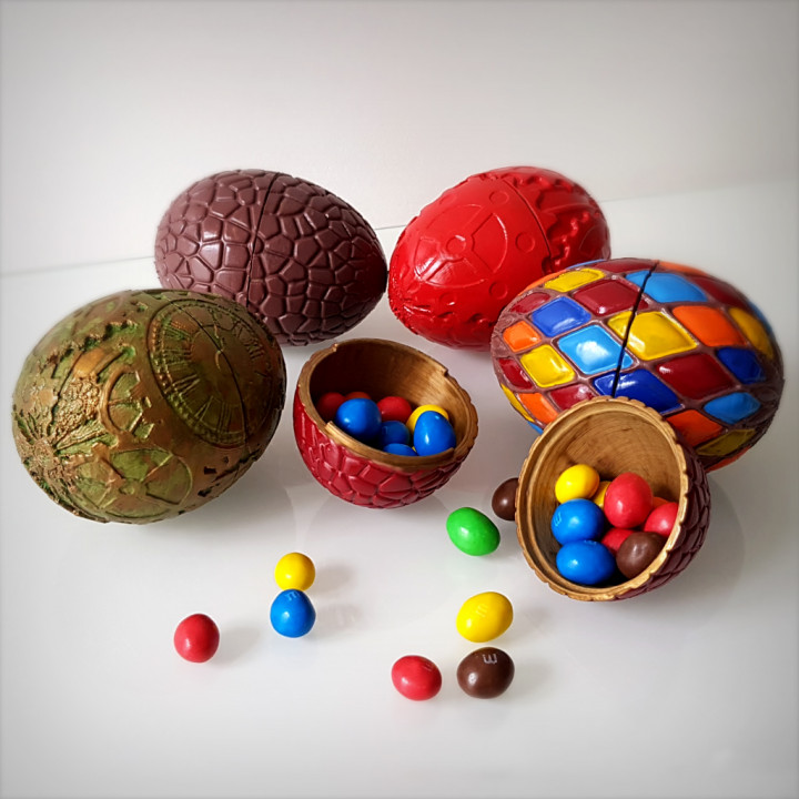Easter eggs pack, 3 models.