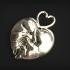 Kitty Heart Pendant image