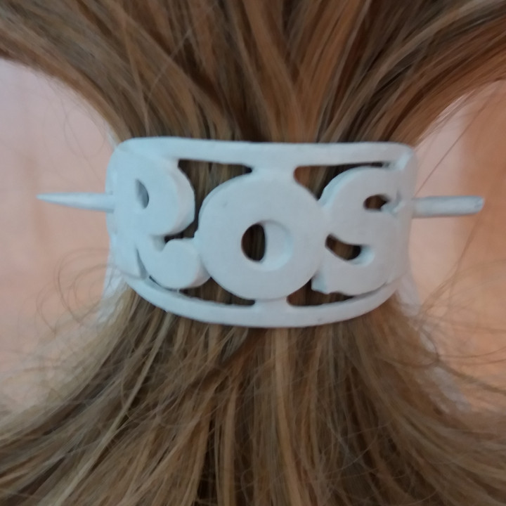 ROSI Personalized Oval Hair Stick Barrete 54x30mm
